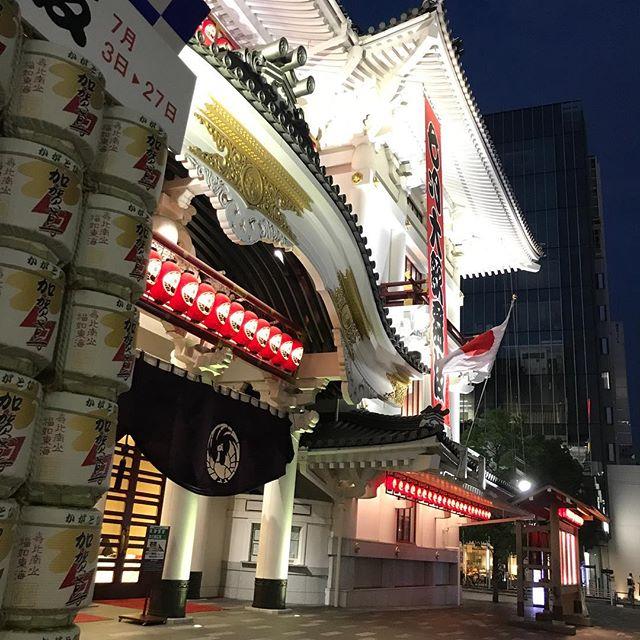 【夜の銀座】歌舞伎座は昼と夜とは違う顏^^#銀座 #歌舞伎座