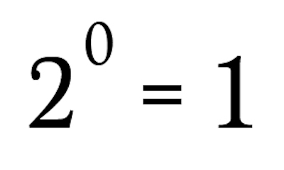 0乗は1になる